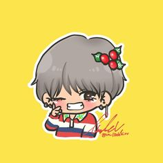 V Chibi, Cute Cartoon, Monsta X, Taehyung, Fan Art, Kpop, Memes, Anime, Meme