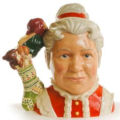 Mrs Claus Royal Doulton Character Jug/Toby Mug http://www.rubylane.com/shop/thegryphonsnest/ilist/,cs=Pottery:By+Maker:Royal+Doulton.html