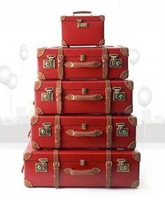 Vintage Red Luggage