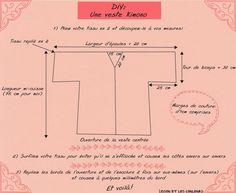Lissou et les couleurs: DIY: Une veste kimono . Sewing Clothes, Diy Clothes, Haut Kimono, Kimono Diy, Peignoir, Couture Sewing, Kimono Jacket, Kimono Fashion, Fashion Sewing