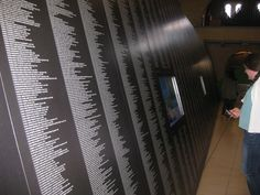 A wall in the Heritage Centre of the Sisters of Notre Dame de Namur displays the names of more than 12,000 SNDs, past and present.