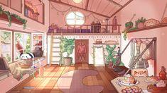 Anime Scenery Wallpaper, Witch Art, Kawaii Art, Bedroom Decor, Bedroom Ideas, Anime Chibi, Overlays, Sweet Home, House Design