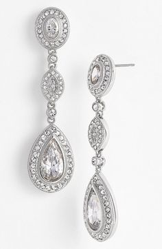 Womens Givenchy Pave Double Drop Earrings Nordstrom Bridesmaid