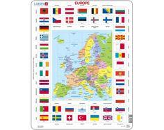 Larsen Map / Flag of Europe Puzzle 70 pcs 023101 KL1