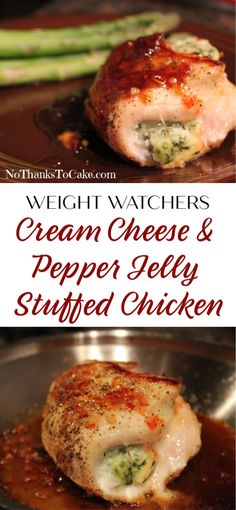 Cream Cheese and Pepper Jelly Stuffed Chicken