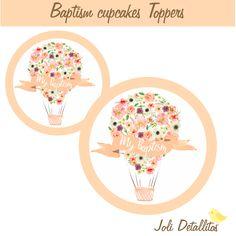 Baptism cupcakes toppers de JoliDetallitos en Etsy