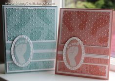 It's a Boy and It's a Girl Footprint Cards