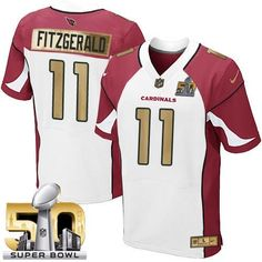 Men s Nike Arizona Cardinals  11 Larry Fitzgerald Limited White Super Bowl  50 Collection NFL Jersey 98a861cec