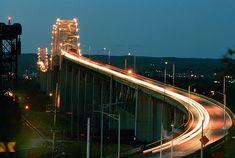 Location: Sault Ste. Marie Michigan Connecting Sault Ste. Marie Ontario. The International Bridge