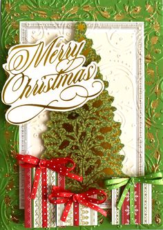 Cute, easy way to make presents with the Christmas borders.