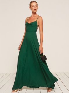 If you have to pay for a dress you don't get to pick out, hopefully it's this dress. This is an open back, floor length dress with a ruched, sweetheart neckline.