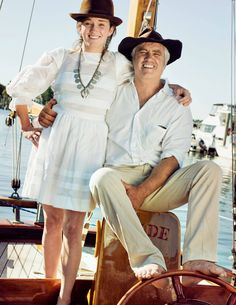 Kick and her uncle Max Kennedy aboard his sailboat Glide. Ethel Kennedy, Robert Kennedy, John Kennedy, Christopher George, Kennedy Compound, Cheryl Hines, Greatest Presidents, Chanel Dress, Together Forever