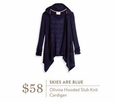 Skies Are Blue Olivina Hooded Cardigan! This would be great for school or weekends. Love.