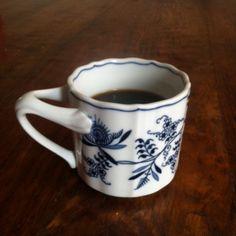 Seattle's Best Level 5 coffee in my go-to Blue Danube coffee mug.