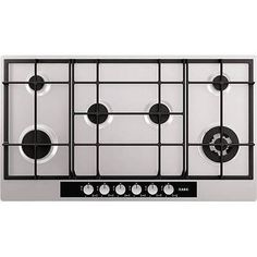 AEG HG956440SM Extra Wide Six Burner 90cm Gas Hob in Stainless steel in Home, Furniture & DIY, Appliances, Cookers, Ovens & Hobs | eBay!
