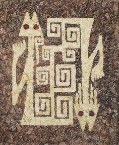 ARTE Y PINTURA RUPESTRE PRECOLOMBINO Ancient Aliens, Ancient Art, Colombian Art, Lascaux, Art Ancien, Paper Birds, Art Graphique, Aboriginal Art, Rock Art