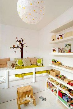 mommo design (in other colours) Big Girl Rooms, Boy Room, Girl Bedrooms, Ideas Dormitorios, Deco Kids, Kids Room Design, Kid Spaces, Kid Beds, Kids Decor