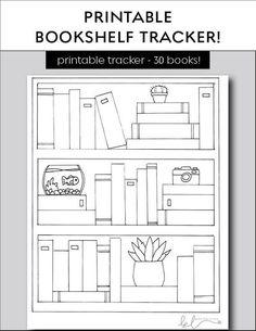 Bullet Journal Bookshelf, Bullet Journal Writing, Bullet Journal Inspo, Bullet Journal Ideas Pages, Bullet Journal Layout, Book Journal, Journal Cards, Tracker Mood, Goals Printable