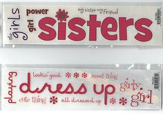 Reminisce RUB ONS-(2) sheets SISTERS friends girly girls dress up