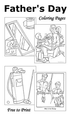 Father's Day Coloring Pages - 10 free printable sheets to color!