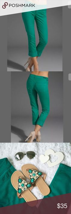 Citizens of Humanity jeans Cute colored cropped straight leg jeans. 97% cotton 2% spandex do there is some stretch. GUC from non smoking home Citizens of Humanity Jeans Ankle & Cropped