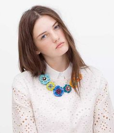 36.99$  Watch now - http://viypr.justgood.pw/vig/item.php?t=2avlon31249 - 2015 New Arrival Colorful Flower Necklace ZA New Clothing Accessories Red Chunky 36.99$