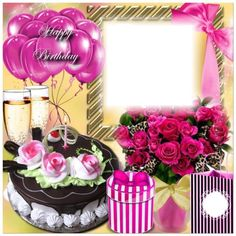 Birthday Photo Frame, Happy Birthday Frame, Birthday Frames, Advance Happy Birthday, Happy Cake Day, Birthday Wishes Greetings, Beautiful Love Pictures, Birthday Template, Birthday Cupcakes