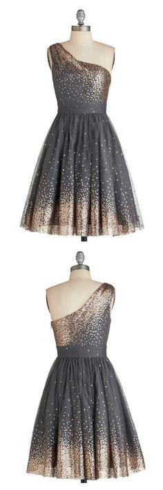 A Line One Shoulder Sequins Grey Homecoming Dresses Party Dresses Prom Dresses Cocktail Dresses Graduation Dresses(
