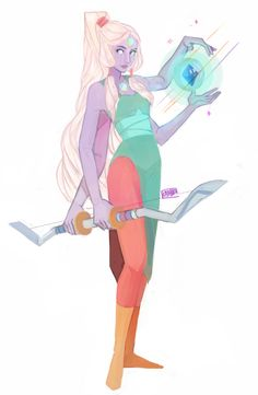 Doodle Central // I think this is Opal from Steven Universe. I love this piece!