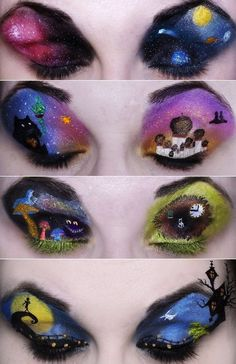 MAC, Cartoon Themed Makeup Looks. That must've taken forever! Which one is your favorite?