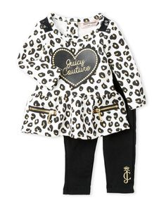 Juicy Couture (Newborn/Infant Girls) Two-Piece Peplum Set