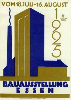 Poster art, 1925, Germany. Bauhaus Dessau, Weimar