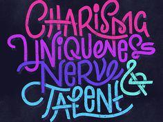 Charisma | Fonts Inspirations | The Design Inspiration