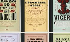 Book covers designed by Louise Fili Ltd for Rizzoli International in honor of the anniversary of the Italian Republic French Typography, Typography Letters, Typography Design, Label Design, Packaging Design, Type Design, Font Anatomy, Louise Fili, Cookbook Design