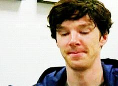 "This is too cute i cant handle his face ahh! Gif ""Hey, Ben. Benedict! Hey. Want a cookie?"""