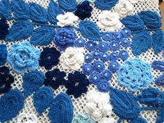 Russian Folk, Crochet Necklace, Blue And White, Blanket, Painting, Collection, Crochet Collar, Painting Art, Paintings