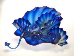 Habatat Chihuly 10 Piece Seaform Series Glass Art with Coil Lip Wrap c. 1998.  : Lot 11