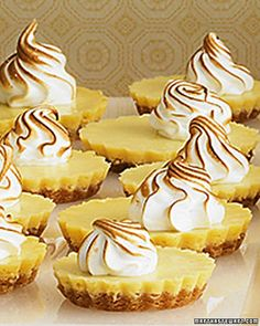 Mini Lemon Tarts These tart bites are a good replacement for cake after a heavy meal---love citrus after a big meal Mini Desserts, Just Desserts, Delicious Desserts, Yummy Food, Lemon Desserts, Plated Desserts, Lemon Recipes, Tart Recipes, Dessert Recipes