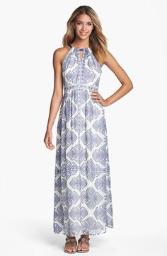 Vince Camuto Print Cutaway Maxi Dress | Nordstrom // Usually not into maxi, but this is super adorablev