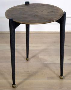 KELLY WEARSTLER | GARCON TABLE. Burnished bronze side table