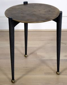 KELLY WEARSTLER | GARCON TABLE. Burnished bronze side table