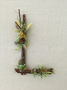Etsy :: Your place to buy and sell all things handmade Twig Crafts, Diy And Crafts, Rustic Wall Letters, Crystal Mobile, Twig Art, Flower Mobile, Wedding Shower Decorations, Nursery Letters, Nature Decor