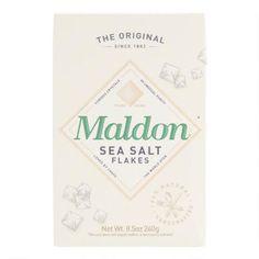 Maldon Sea Salt   World Market Salt Alternatives, Sea Salt Flakes, Cool Notebooks, Fish And Meat, How To Make Bread, Edible Creations, World Market, Salts