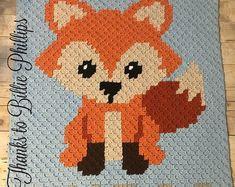 INSTANT DOWNLOAD Fox Graphgan Afghan by 2LittleCraigsCrochet