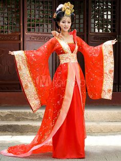 Ancient Chinese Red Empress Costumes for Women Chinese Traditional Costume, Traditional Fashion, Traditional Dresses, Chinese Wedding Dress Traditional, Hanfu, Kimono Chino, Dynasty Clothing, Japanese Outfits, Trendy Dresses