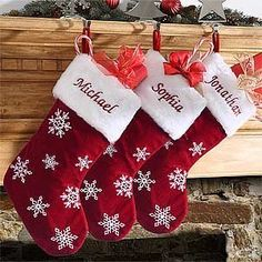 Red Velvet Personalized Snowflake Christmas Stockings by PersonalizationMall.com, http://www.amazon.com/dp/B009KZM7YI/ref=cm_sw_r_pi_dp_6RpYqb14299G0