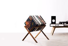 Retro record storage: The Vinyl Stand by HRDL - Retro to GoYou can find Lp storage and more on our website.Retro record storage: The Vinyl Stand by HRDL - Retro to Go Vinyl Record Storage, Lp Storage, Vinyl Record Holder, Vinyl Shelf, Record Player Stand, Record Rack, Record Shelf, Retro Record Player, Record Display