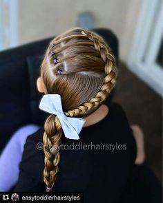 Young Girls Hairstyles, Girls Hairdos, Baby Girl Hairstyles, Girls Braids, Cute Hairstyles, Braided Hairstyles, Birthday Hair, Toddler Hair, Crazy Hair