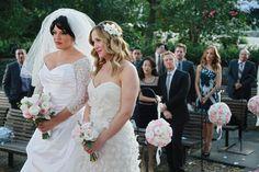 Sara Ramirez and Jessica Capshaw as Callie and Arizona on Grey's Anatomy