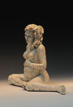 ceramic-figurative-sculpture raku-sculpture  wood-fired-sculpture  figurative-sculpture Ceramic Figures, Clay Figures, Ceramic Art, Sculptures Céramiques, Sculpture Clay, Ceramic Sculptures, Ceramic Sculpture Figurative, Figurative Art, Pregnancy Art